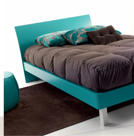 letto moderno Billy con testiera curva