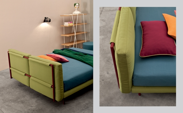 Camaleo letto imbottito design by Twils