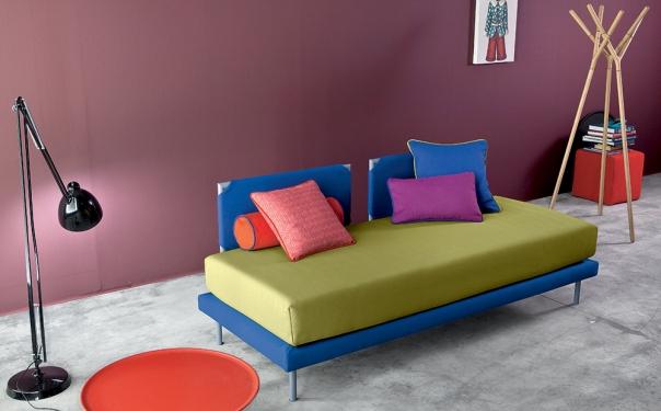 Camaleo divano letto con tasche di stoffa - Spalliere da letto ...