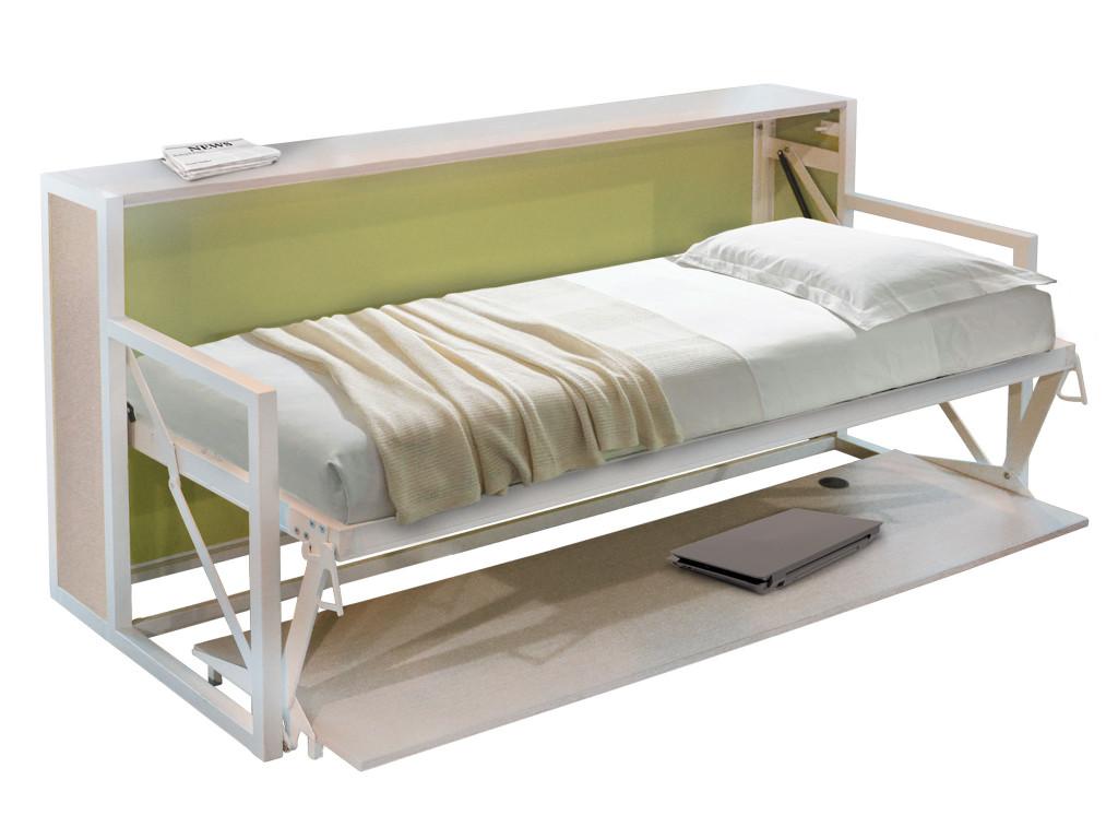 B esk mobile letto singolo autoportante a ribalta orizzontale for Mobile computer a scomparsa
