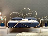 letto in ferro battuto romantico