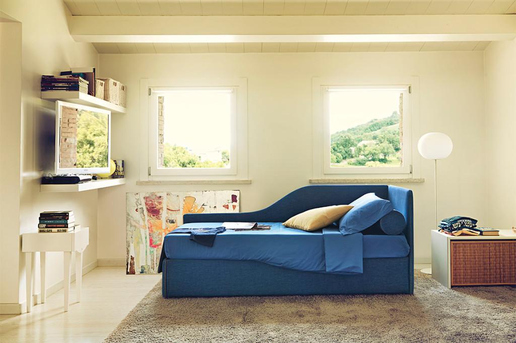 Space di noctis letto imbottito per cameretta in outlet - Letto per bambini con scivolo ...