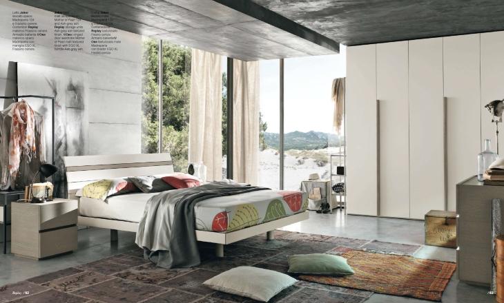 letto semplice in legno