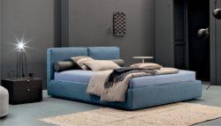 letto azzurro moderno